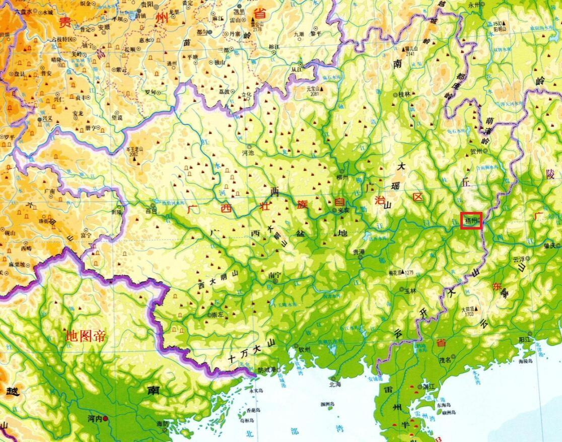 南越国版图_广东和广西以什么为界? - 知乎