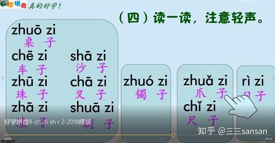 声母是平舌音的音节_声母zh ch sh r的教学,怎么最快学会?--小学一年级语文第8课 - 知乎
