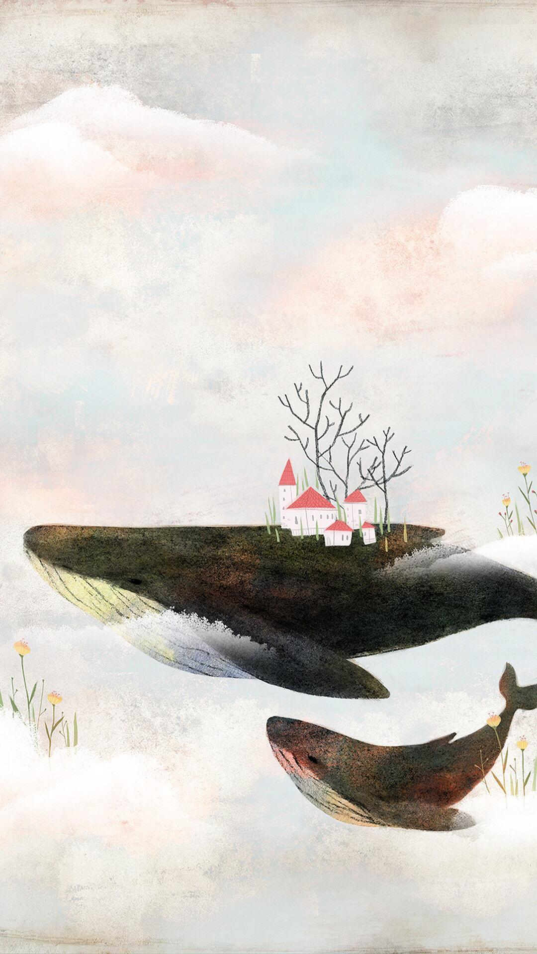 有没有关于鲸鱼的壁纸呢 很喜欢 一直找不到好看的?
