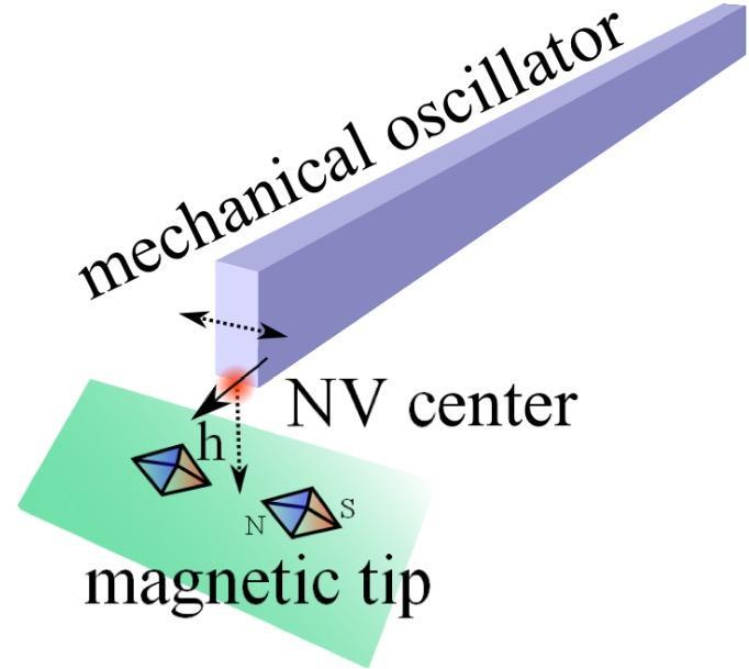 微纳米机械振子与电子自旋之间的磁耦合机制