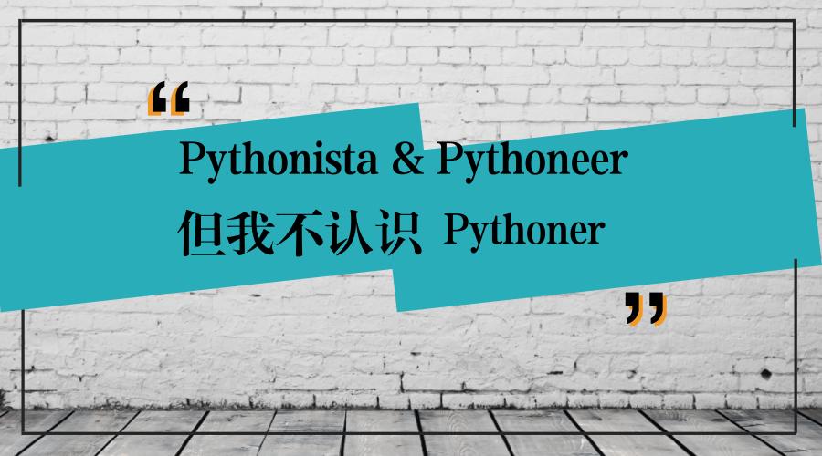 我不认识Pythoner这种开发者