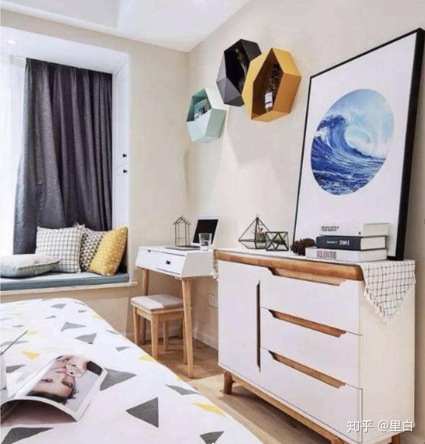 卧室墙上置物架_面积小的卧室怎么装修和布置比较好? - 知乎