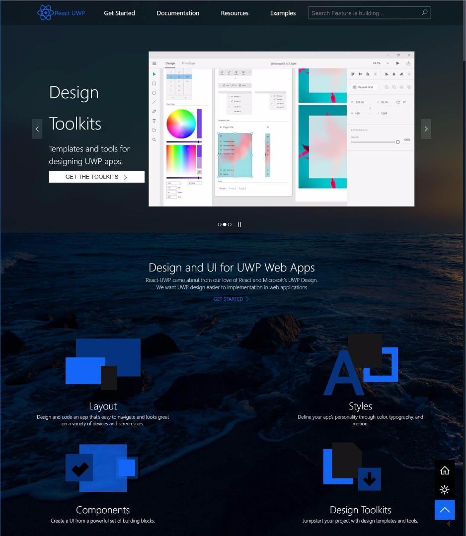 React-UWP 一套实现UWP Design 和Fluent Design 的React 开源UI