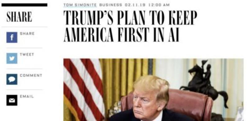 【报道】特朗普签署启动美国AI计划,加速与中国、加拿大AI竞赛,争夺全球领导权