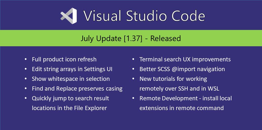 VS Code 1.37 发布!多达数十个图标迎来全新设计