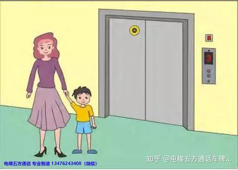 电梯五方通话电梯无线对讲电梯安全乘坐小提示