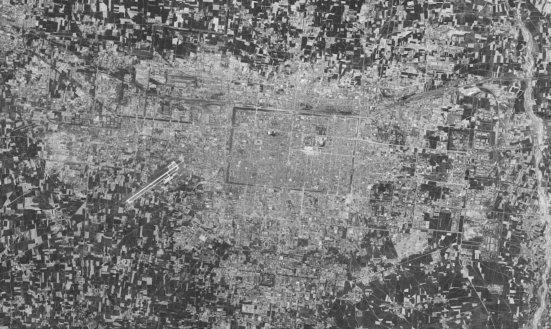 1970年的西安卫星图