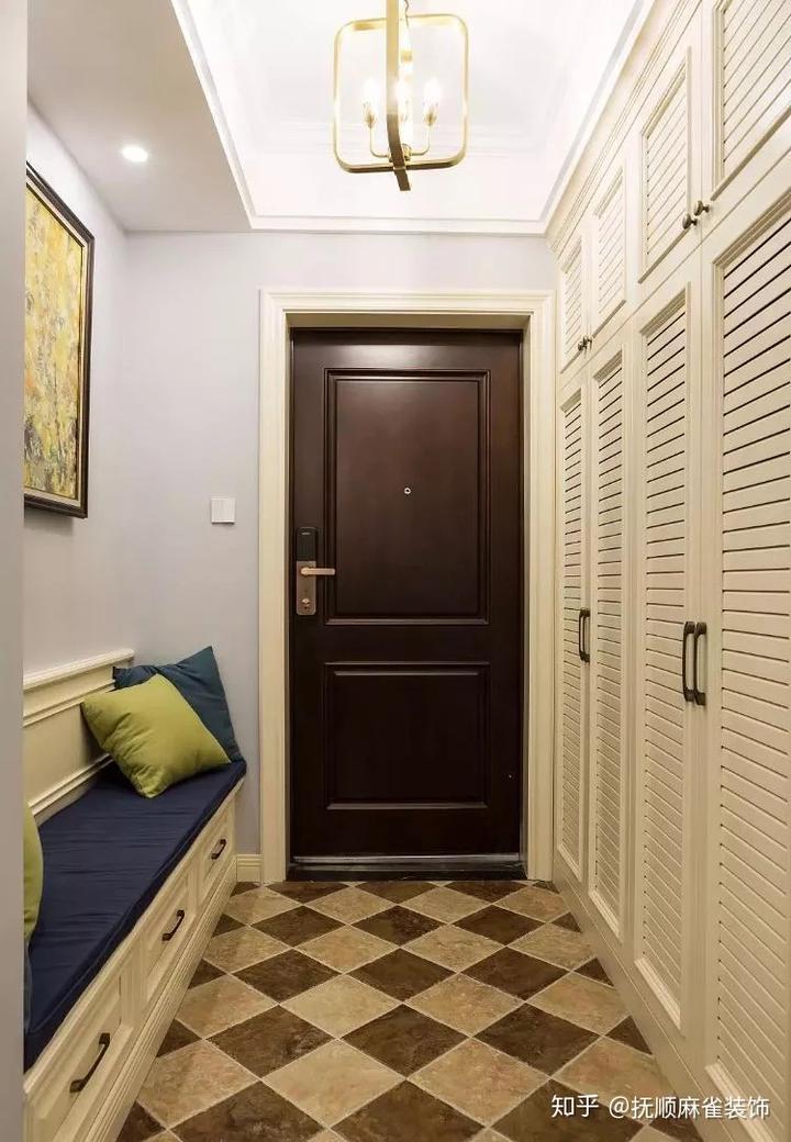 裝修效果圖:進門就是客廳?玄關這樣設計就對了!
