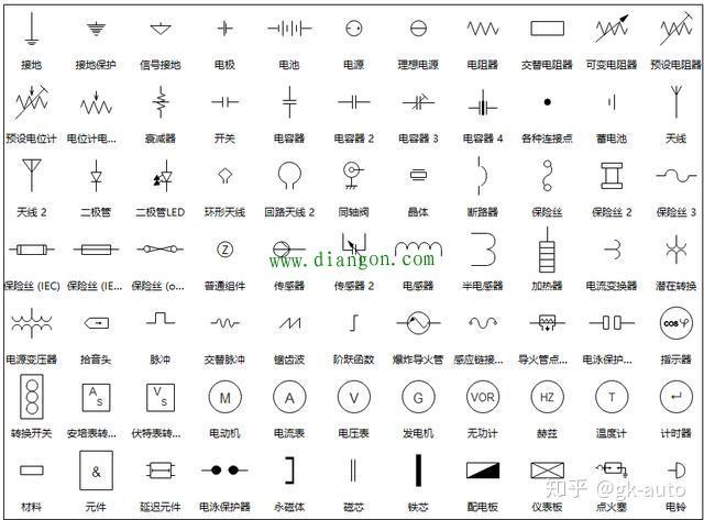 电工电子电路图符号英文缩写大全
