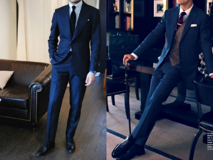 藏青色的西藏配什么领带_深蓝西装—男人的第二套战袍