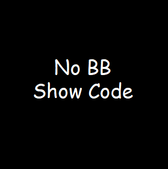 No bb,show coding