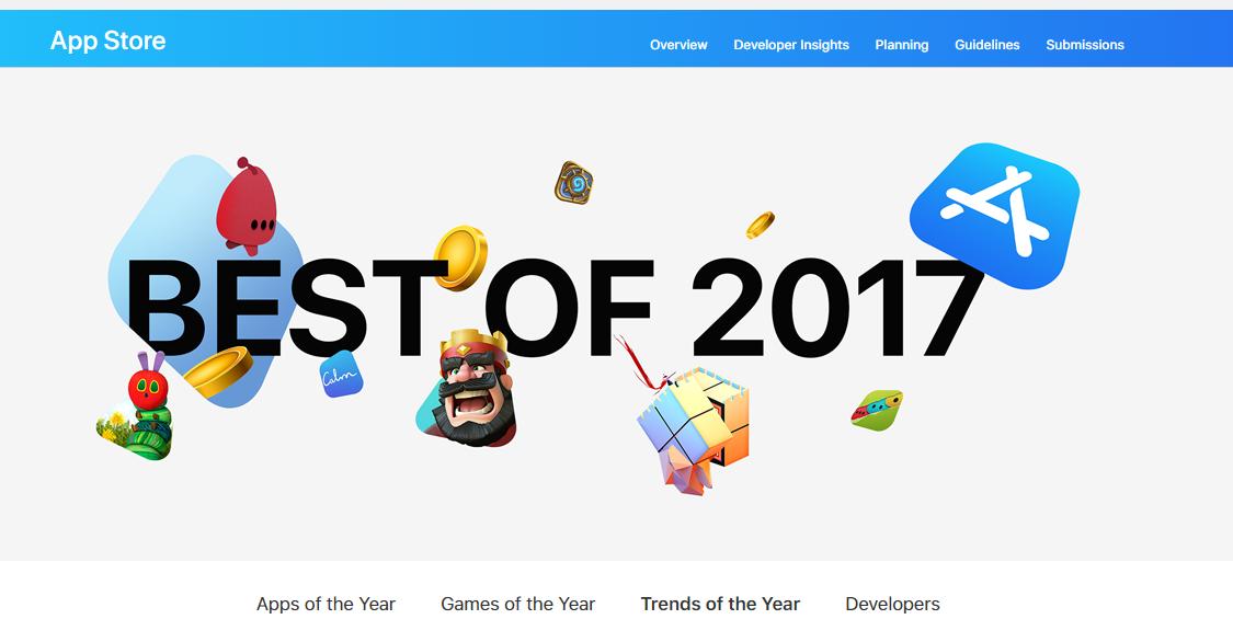【苹果Search Ads专栏】从苹果2017年度的最佳App,看2018年今日推荐位有哪些红利可吃