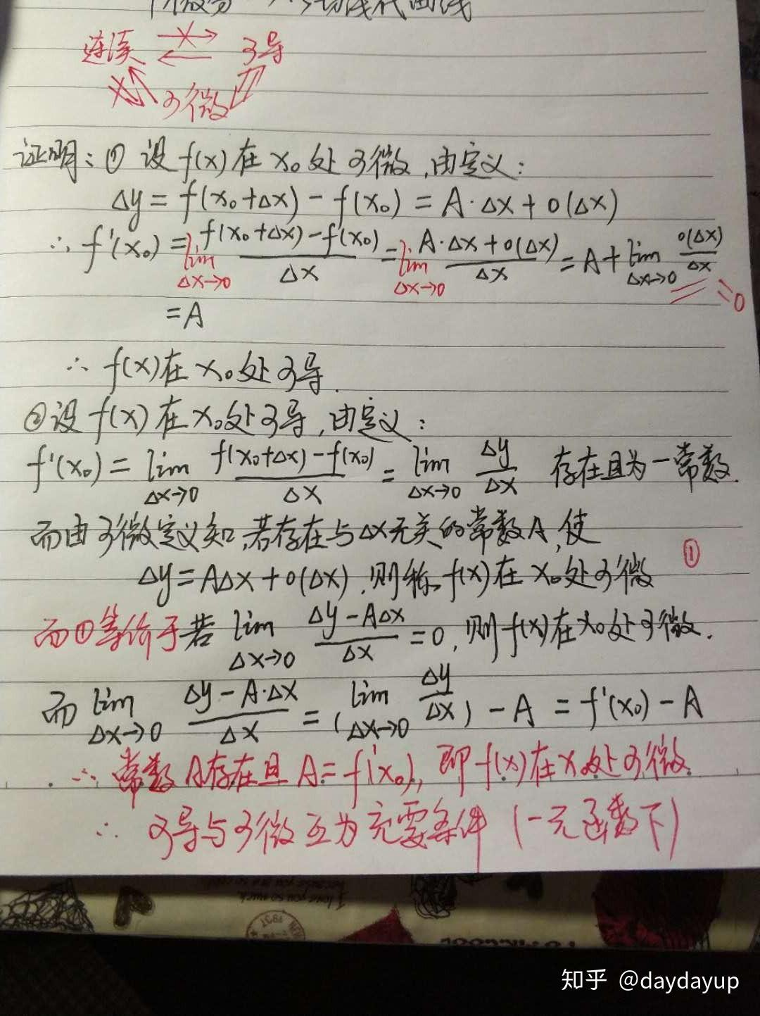 一元函数可微与可导的关系的证明?