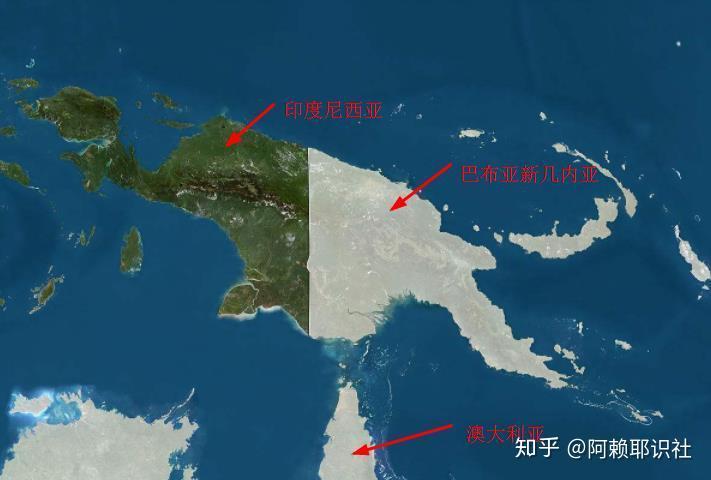 新几内亚岛地图
