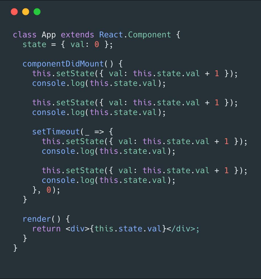 你真的理解setState吗?