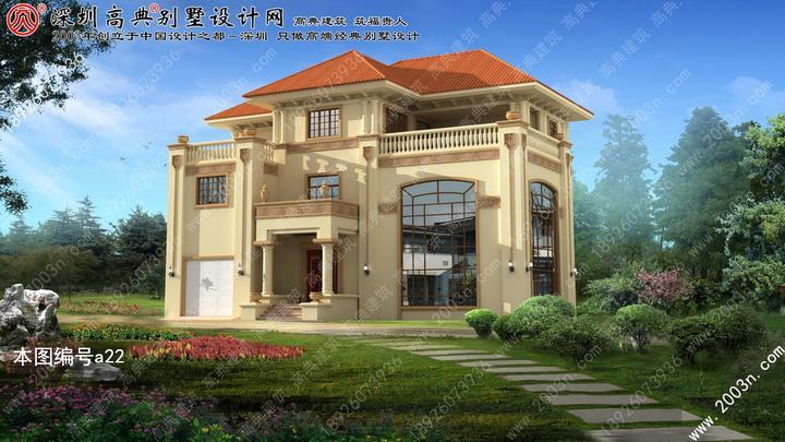 欧式别墅图片大全三层最新款三层半别墅图片