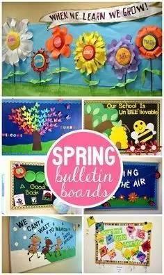 幼儿园环创:春季主题墙环创图片 知乎
