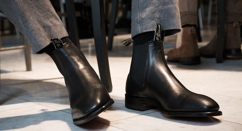 冬天,切尔西靴