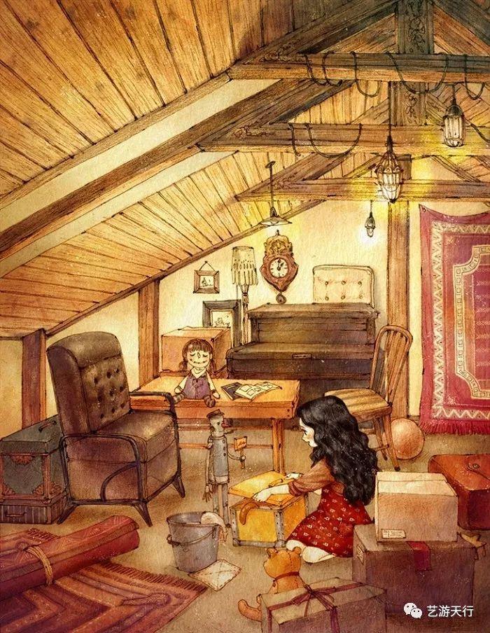 插画丨韩国插画师aeppol的《森林女孩日记》 知乎