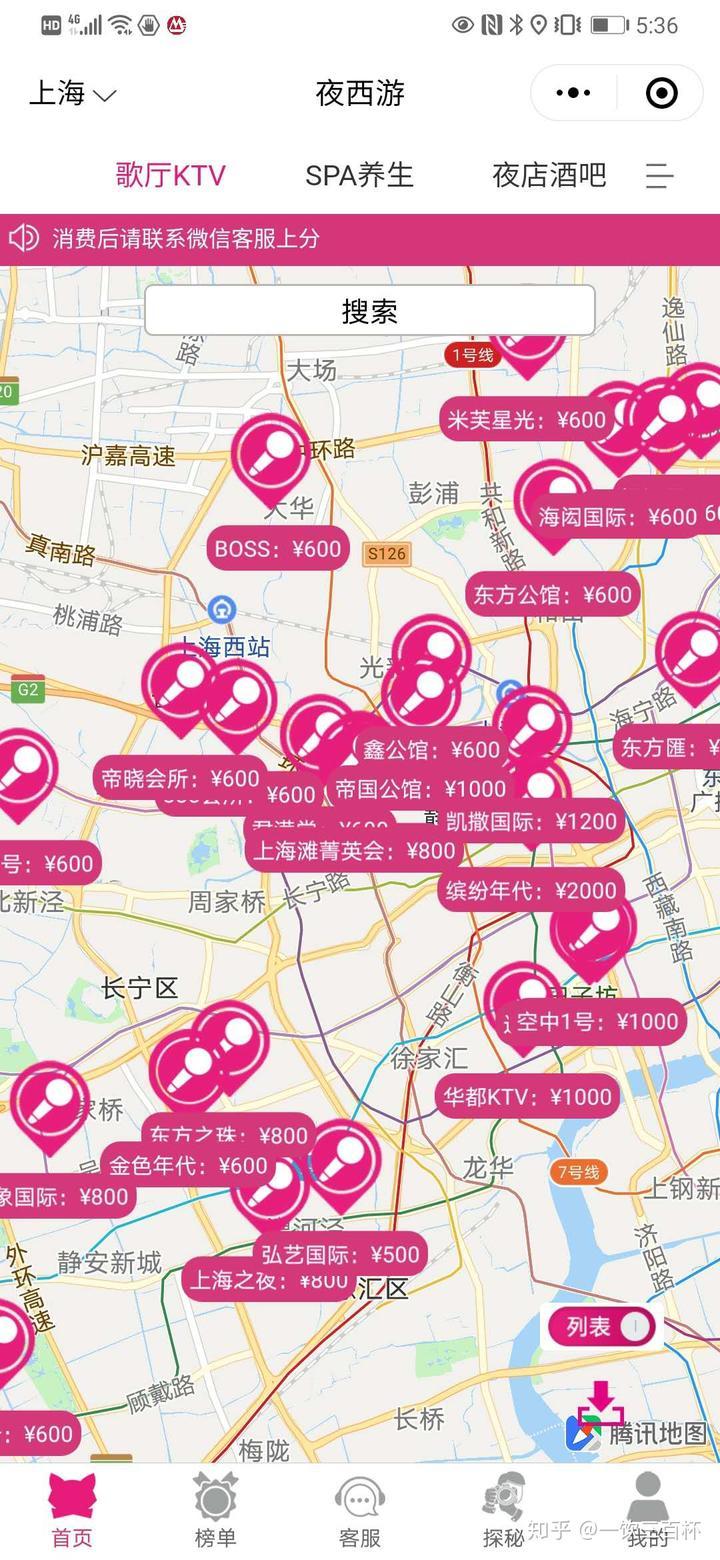 上海商务KTV夜总会排名和价格(图1)