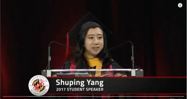 马里兰大学中国留学生毕业演讲涉嫌辱华:我在美国吸到的空气都是甜的