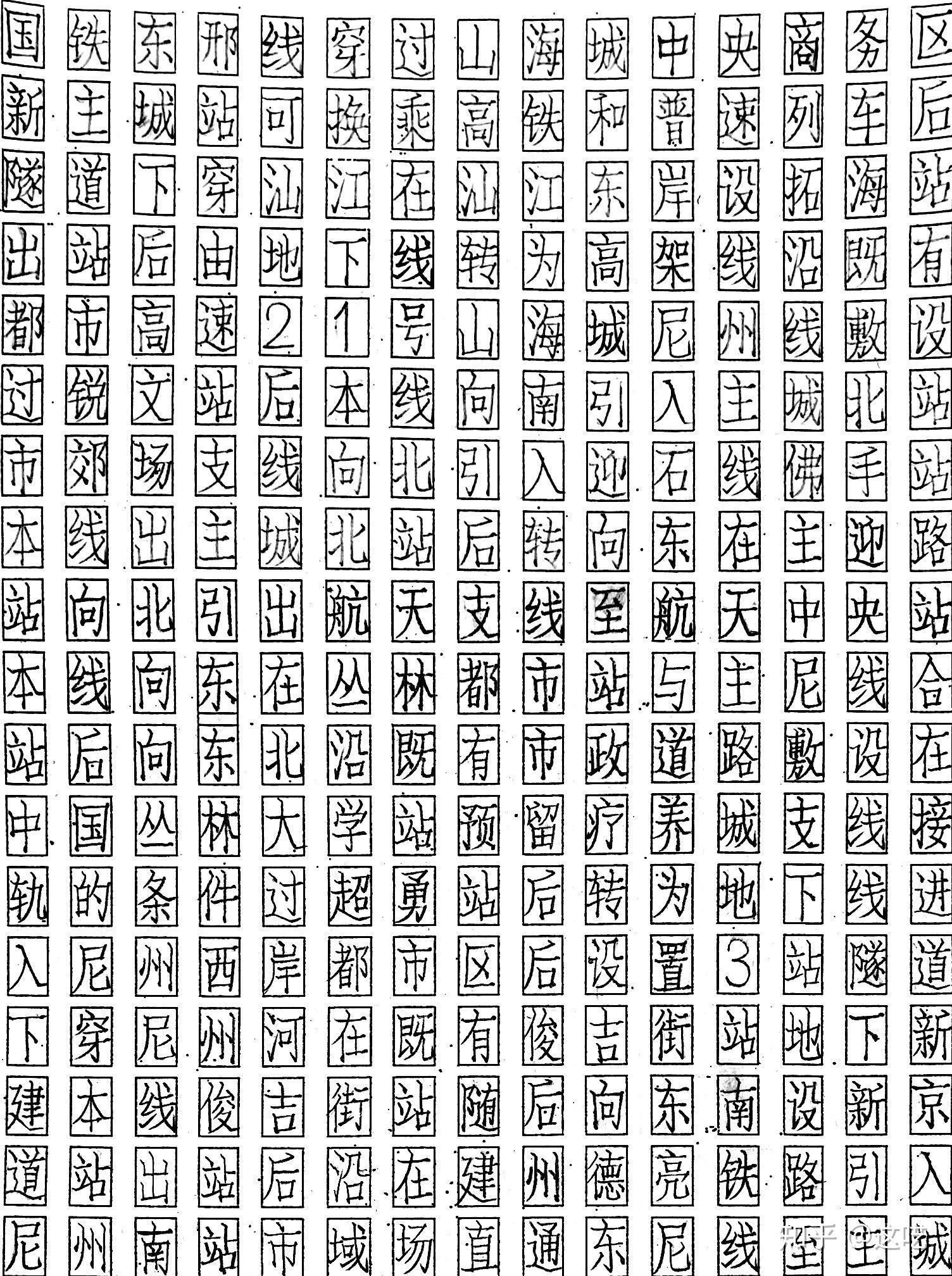 如何练习硬笔仿宋字?