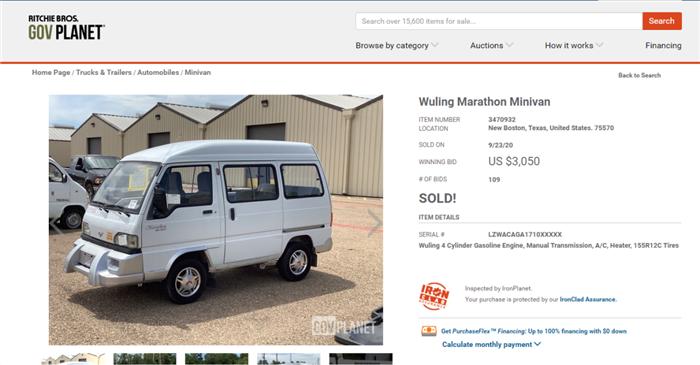 """美国军车拍卖网上的""""五菱神车""""成交了!中外网友却关注这个"""