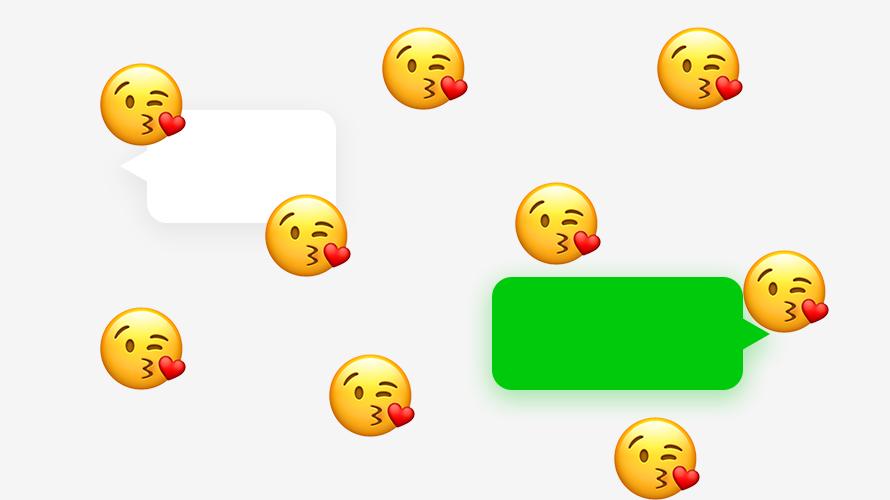 微信聊天时,为自己增加表情雨的出场特效
