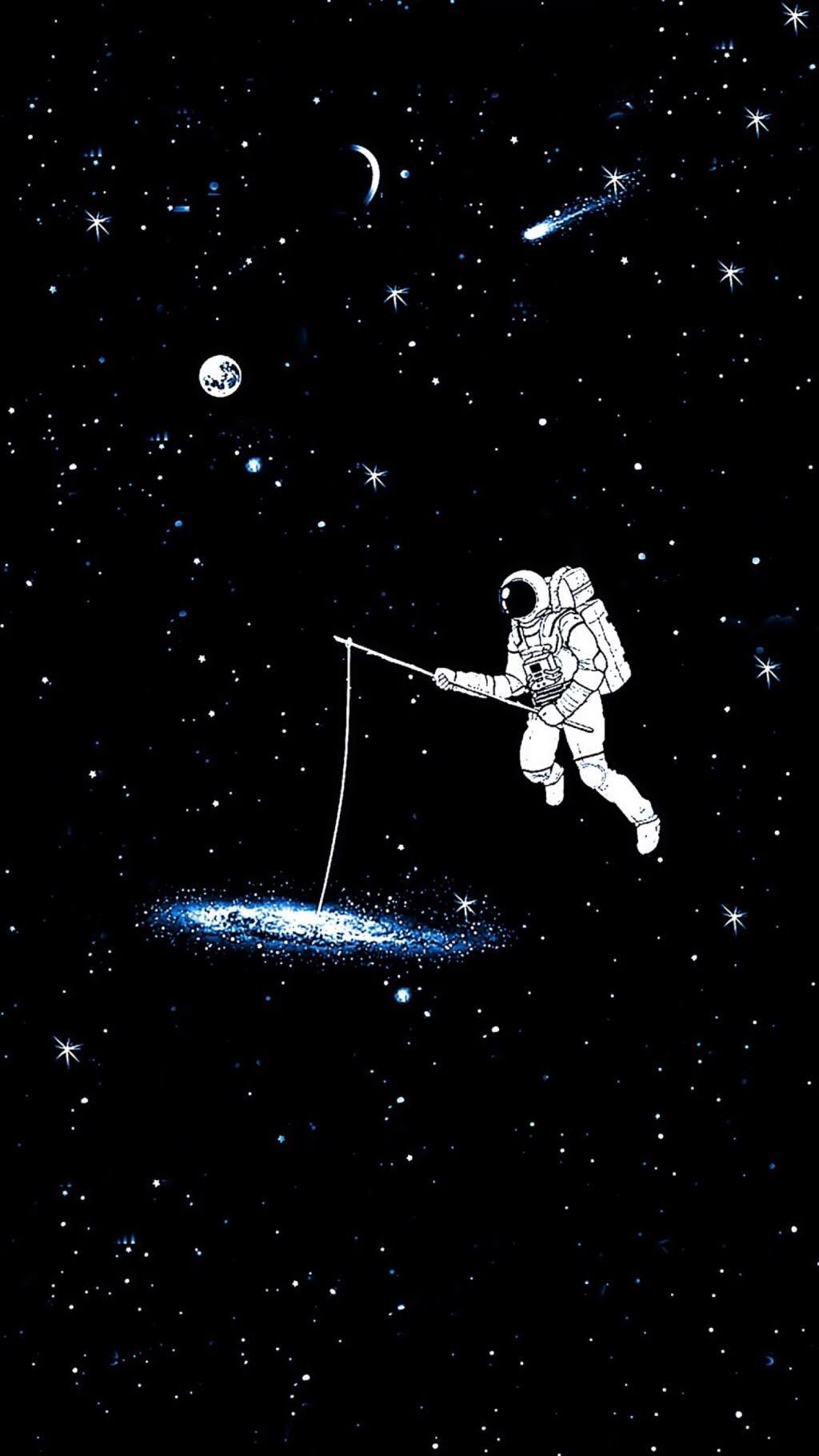 有什么宇航员主题的壁纸或者插画? 知乎