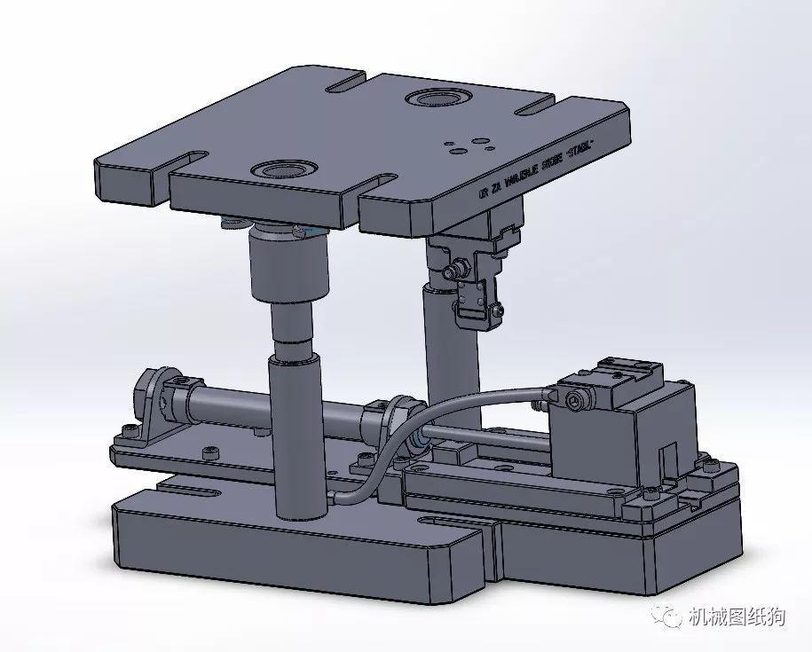 工程機械非標設計之氣動夾具模型圖紙solidworks設計