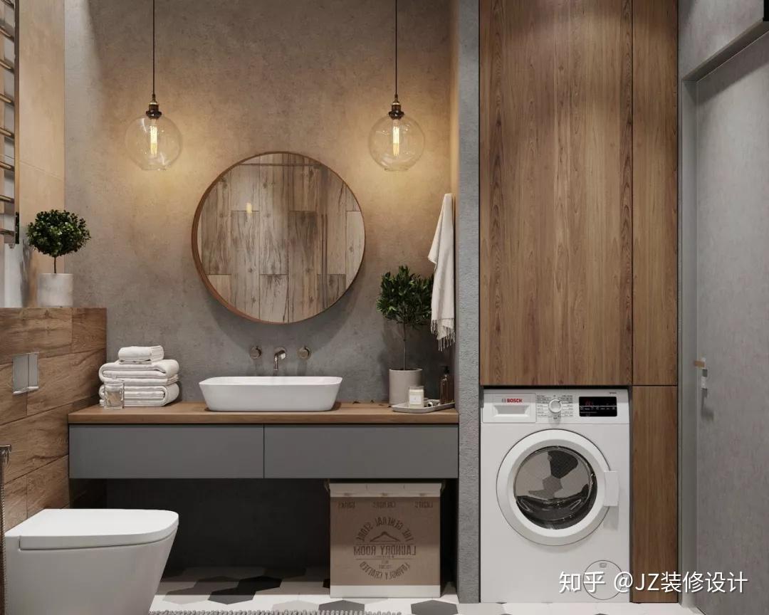 柜桶洗衣机尺寸_5㎡的卫生间怎么放洗衣机?35个设计方案,显高级! - 知乎