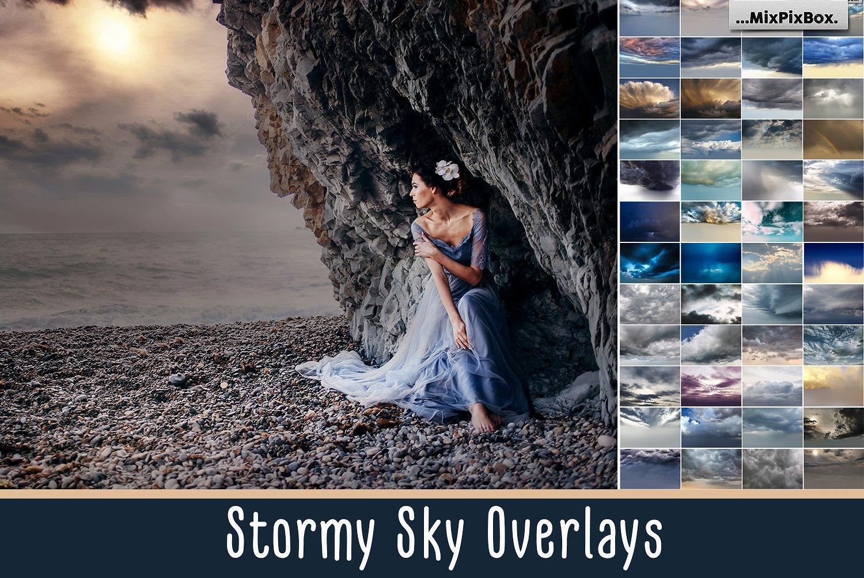 【S321】暴风雨的天空叠加素材60P Stormy Sky Overlays