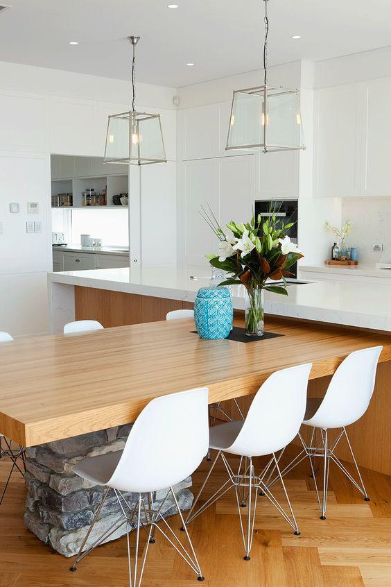 开放式厨房 有哪些好看的厨房中岛兼餐桌设计? 知乎