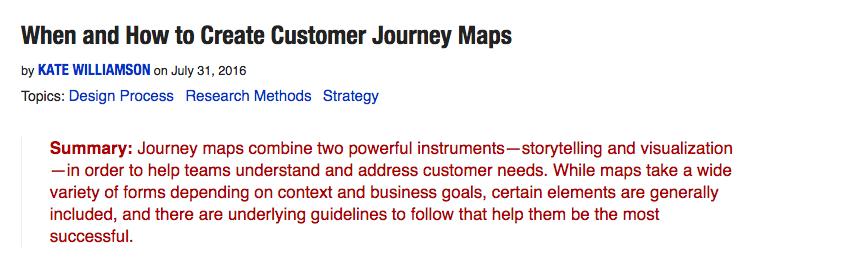 何时、如何创建用户体验地图?