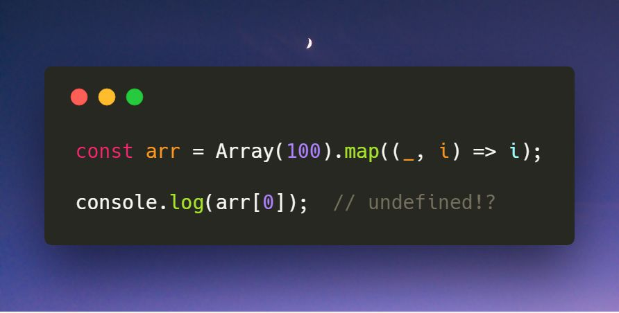 Array构造的数组使用map为何失效?